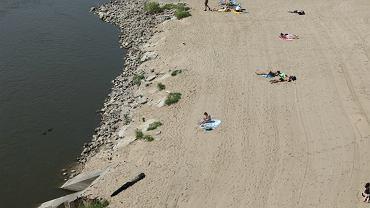 Plaża przy Wiśle