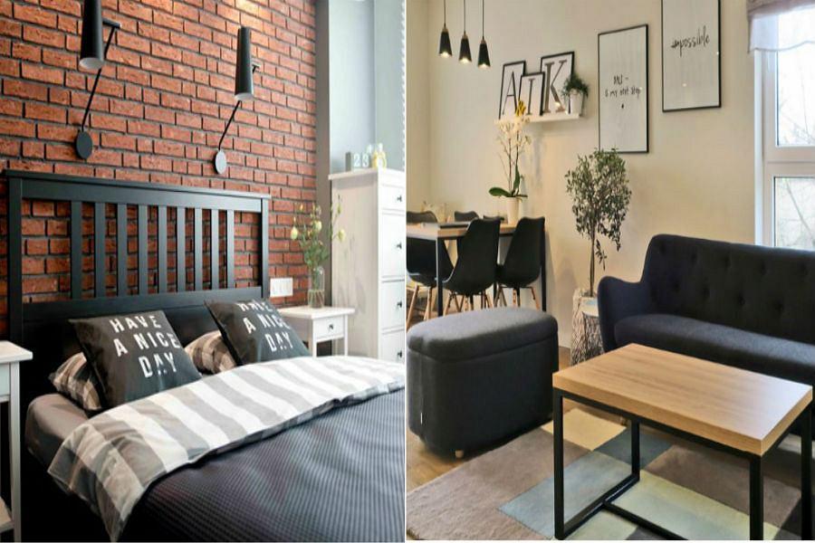 Mieszkanie Z Ciemnymi Meblami W Stylu Skandynawskim Jak Ożywić
