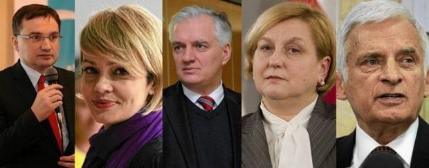 Zbigniew Ziobro, Weronika Marczuk, Jaros�aw Gowin, Anna Fotyga i Jerzy Buzek