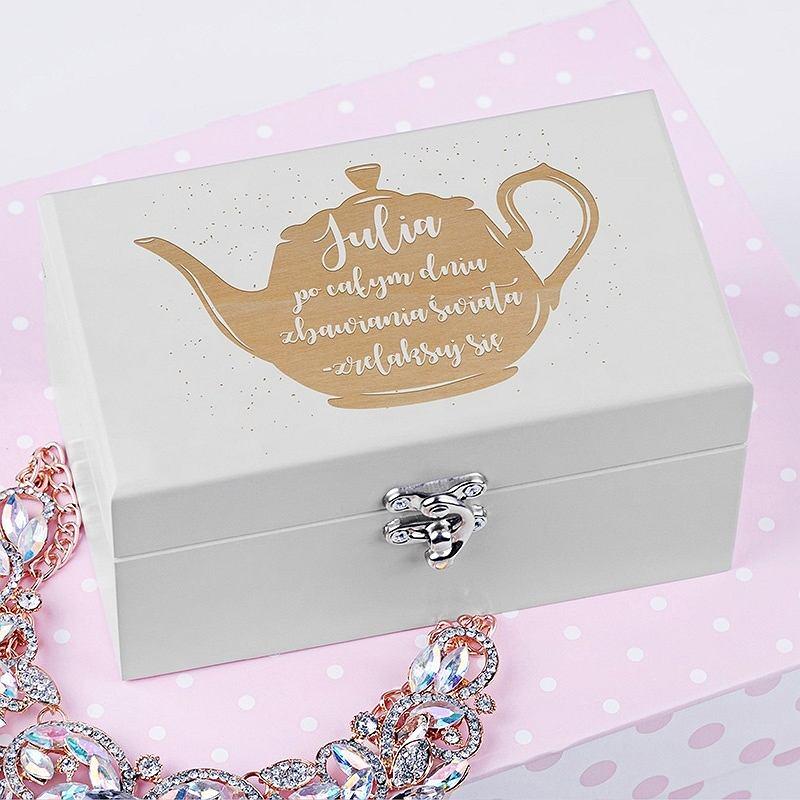 Personalizowana skrzyneczka z herbatą