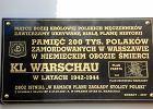 Odsłonięto tablicę upamiętniającą 200 tys. ofiar KL Warschau. IPN:   były ofiary, ale trudno jest wskazać ich liczbę
