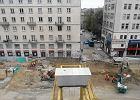 Miejsce awarii na budowie metra przy ul. Szkolnej