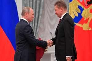 Władimir Putin odznaczył szefa Gazpromu jednym z najwyższych orderów Rosji