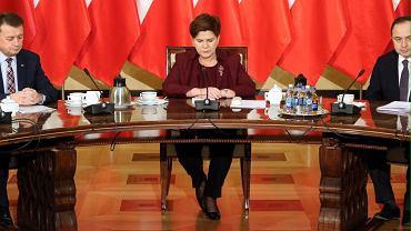 Premier Szydło spotkała się z szefami klubów parlamentarnych. Spotkanie zbojkotował Ryszard Petru