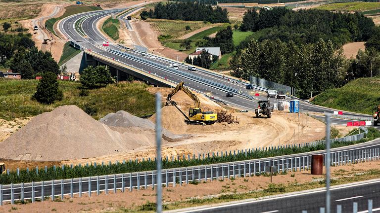 Budowa drogi S19, okolice Rzeszowa, 2017 r.
