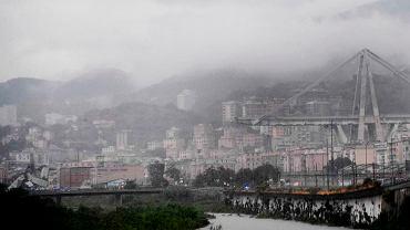 Zawalony wiadukt w Genui