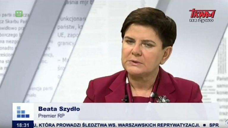 Premier Beata Szydło w TV Trwam