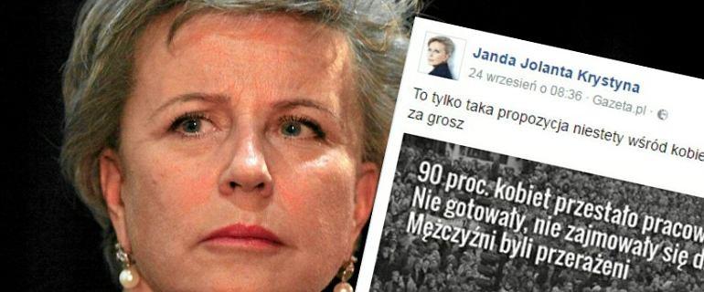 Od tego si� zacz�o. Janda wrzuci�a TEN tekst na Facebooka i porwa�a tysi�ce kobiet