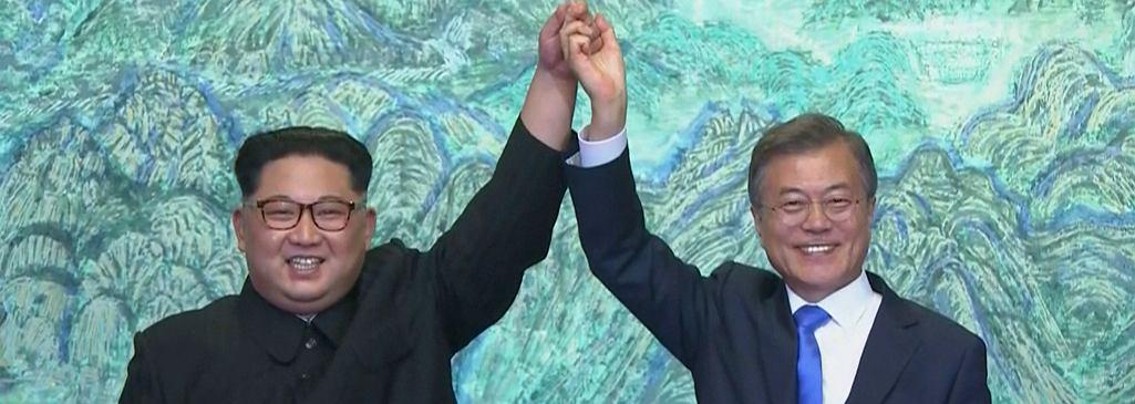Spotkanie Kim Dzong Una z Mun Dze Inem