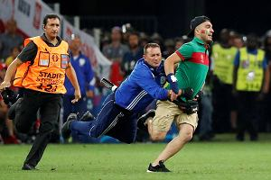 Portugalia i Polska będą mieć kłopoty po wczorajszym meczu. Przez race i wtargnięcie kibica