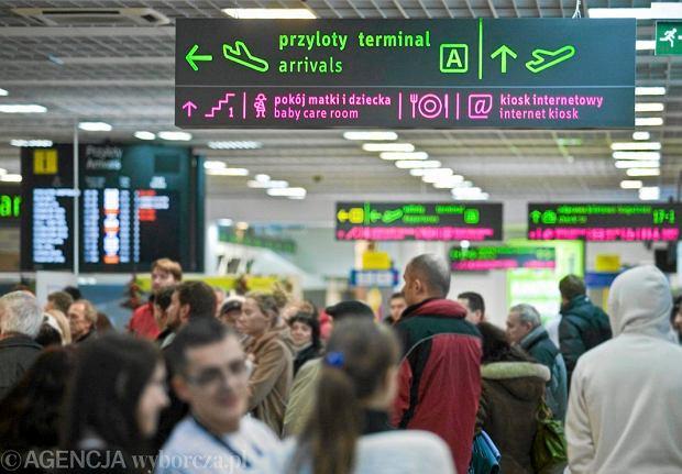 Sala przylotów na lotnisku w Pyrzowicach