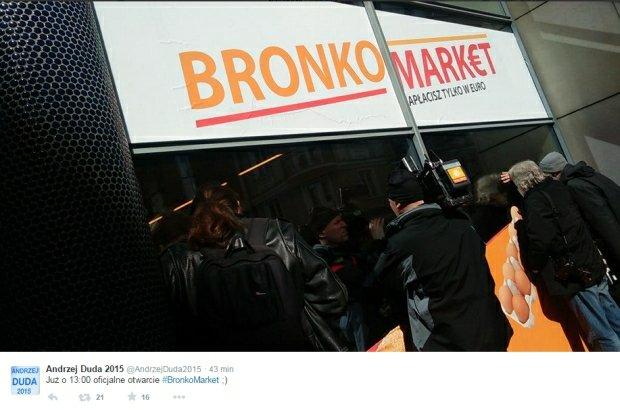 """Tak wg Dudy b�dzie wygl�da� polski sklep po wprowadzeniu euro. Oto... """"Bronkomarket"""""""