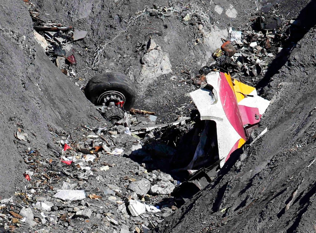 Miejsce katastrofy airbusa Germanwings