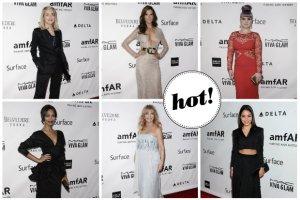 Plejada gwiazd Hollywood na gali amfAR w Los Angeles - Vanessa Hudgens, Zoe Saldana, Kelly Osbourne i inni [ZDJ�CIA]