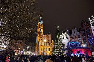 Mikołaj przypłynął do Gdańska, a choinka rozświetliła Długi Targ [ZDJĘCIA, WIDEO]