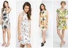 Kwiaty na bia�ym tle - jasne sukienki na lato
