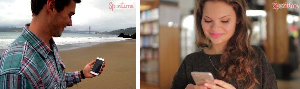Choć Spontime nie jest aplikacją do randkowania, amerykańscy znajomi Karoliny znaleźli dla niej i takie zastosowanie (fot. materiały prasowe)