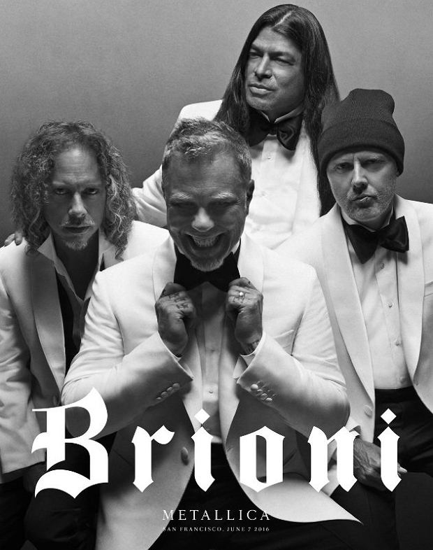 Metallica reklamuje włoskie garnitury Brioni