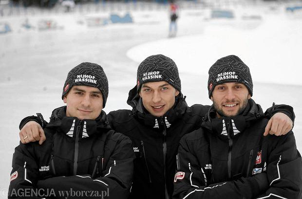 Reprezentanci Polski na igrzyska w Soczi: Jan Szyma�ski, Zbigniew Br�dka i Konrad Nied�wiedzki