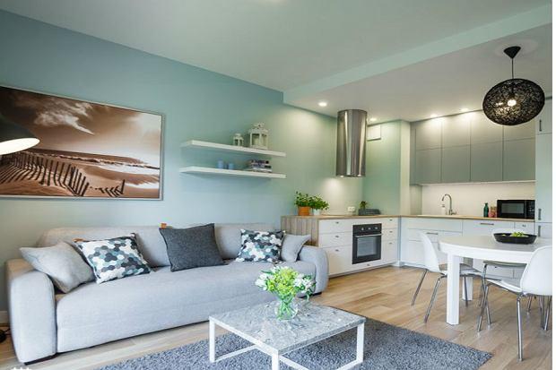 KOLORY DO SALONU  Budowa, projektowanie i remont domu, zakładanie ogrodów  -> Kuchnia W Kolorze Mietowym