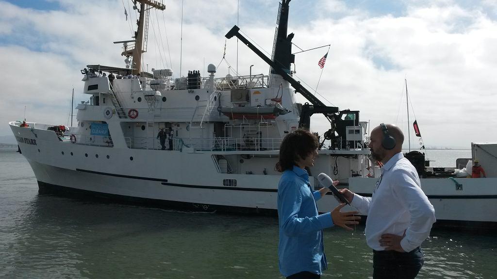 Boyan Slat udziela wywiadu (fot. The Ocean Cleanup)