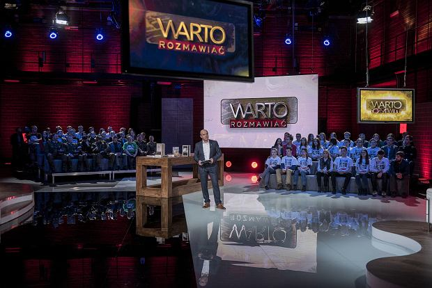 TVP 1 pierwsze nagranie programu Jana Pospieszalskiego 'Warto rozmawiać'