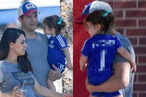 Ashton Kutcher z rodziną