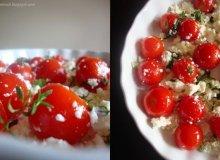 Crumble z pomidorkami pod chlebowo-parmezanow� kruszonk� - ugotuj