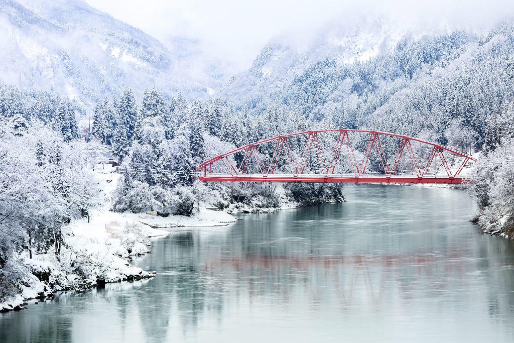 Zimowy krajobraz Japonii