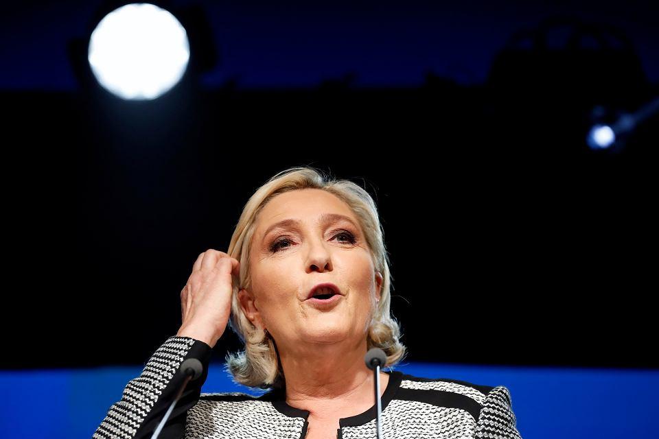 Szefowa skrajnie prawicowego Zjednoczenia Narodowego (RN), Marine Le Pen.