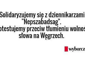 """Najwi�ksza opozycyjna gazeta na W�grzech zamkni�ta. """"To mroczny etap dla demokracji w kraju""""."""