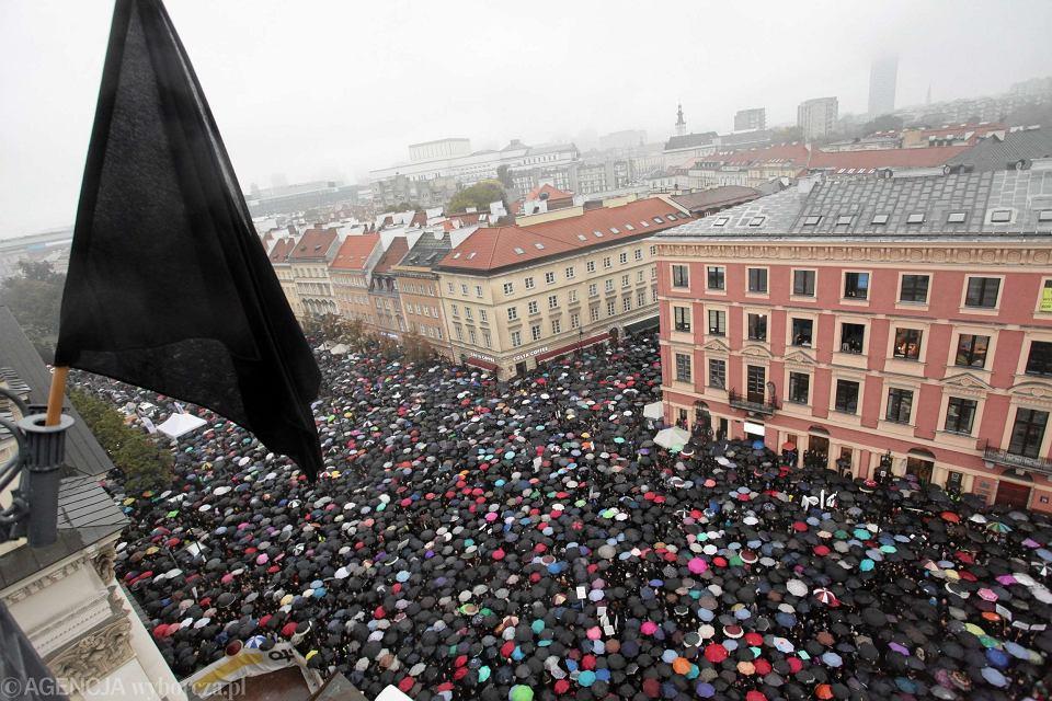 Czarny protest w Warszawie, 03.10.2016