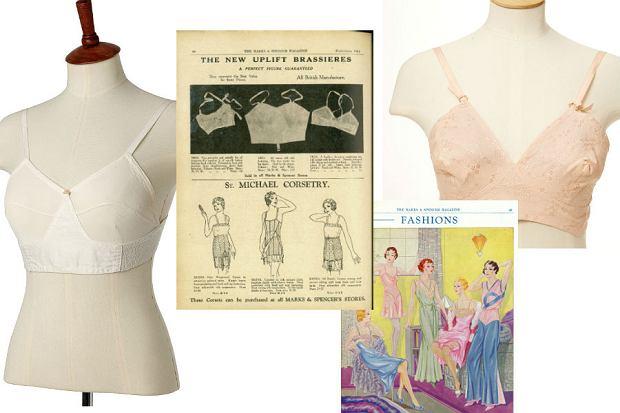 911dcf6a7987da Od lewej: biustonosz dostępny w sklepach Marks&Spencer w latach 20. XX  wieku; bielizna