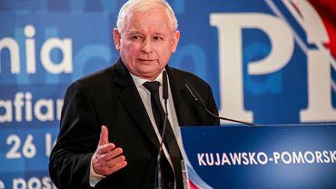 30.09.2018, Bydgoszcz, Jarosław Kaczyński na konwencji PiS