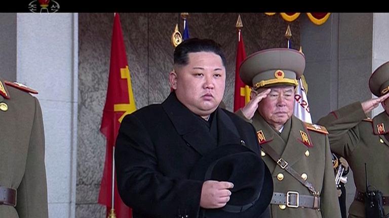 Parada wojskowa w Pjongjangu