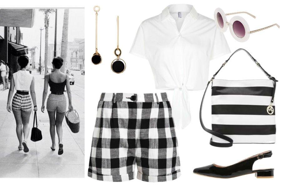 8f0f408d64 W stylu lat 60  geometryczne black   white na lato