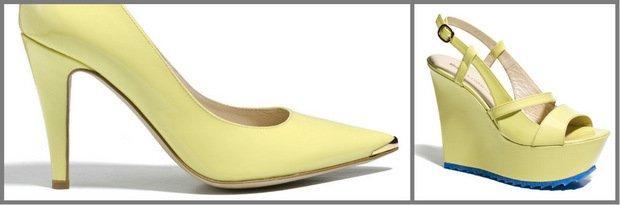 1db34c6bb5335 Pastelowy żółty na butach Baldowski