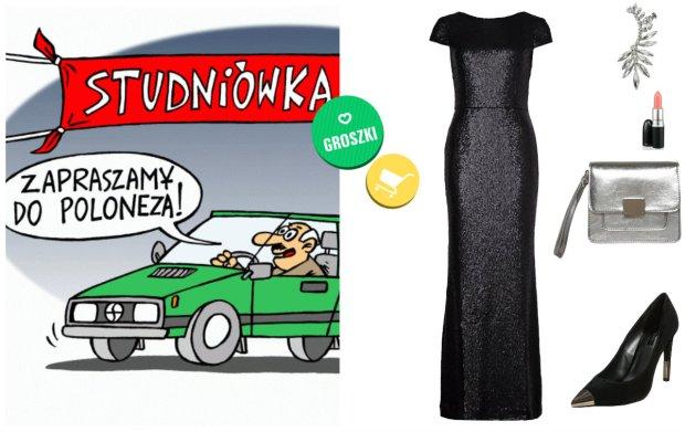 Niestandardowe sukienki na studni�wk� w czerniach i szaro�ciach -  gotowe stylizacje