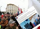 Demonstracja KOD w Warszawie i post o zdj�ciu Marka Kondrata