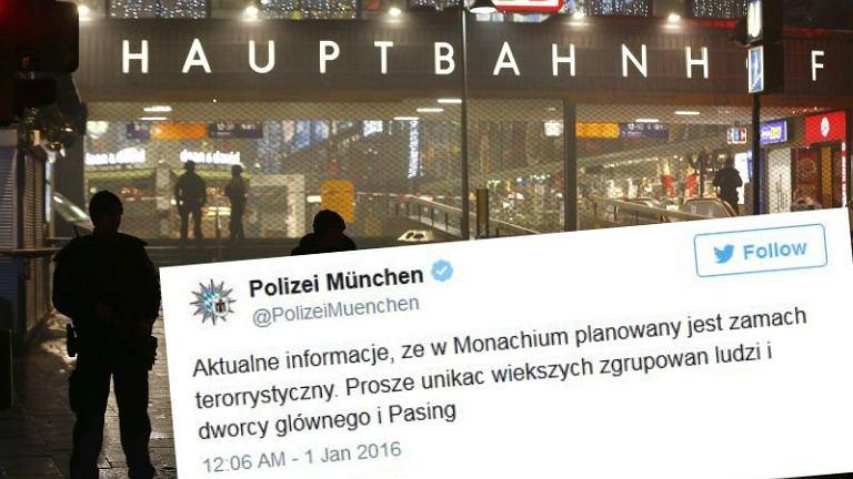 Ostrzeżenie monachijskiej policji o możliwym zamachu terrorystycznym w języku polskim