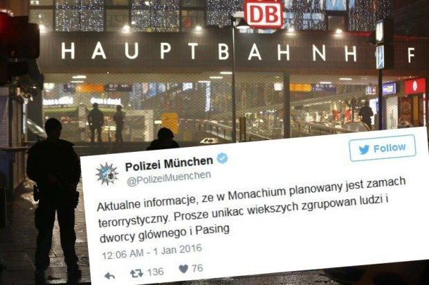 Ostrze�enie monachijskiej policji o mo�liwym zamachu terrorystycznym w j�zyku polskim