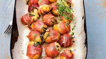Ziemniaki zawijane w pancettę