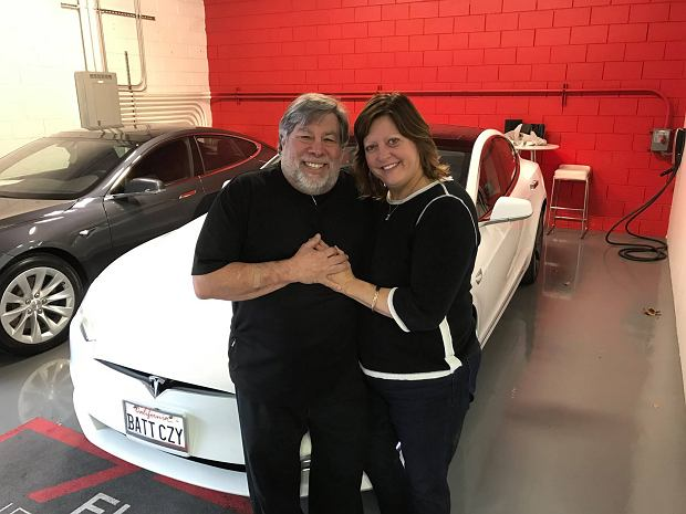 Steve Wozniak przy Tesli