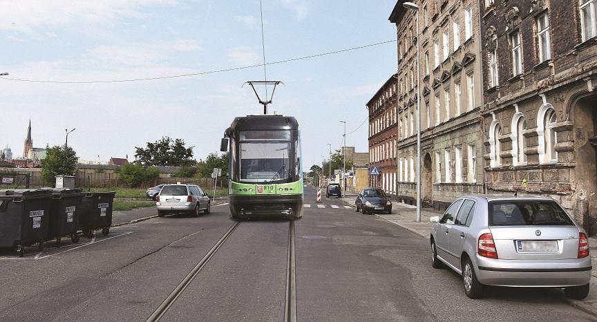 Linia tramwajowa nr 13 od Łasztowni do Kępy Parnickiej (ul. Heyki)