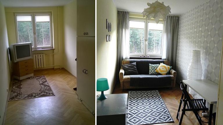 Pokój przed i po