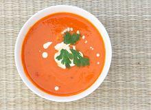 Zupa krem z pieczonych pomidorów - ugotuj