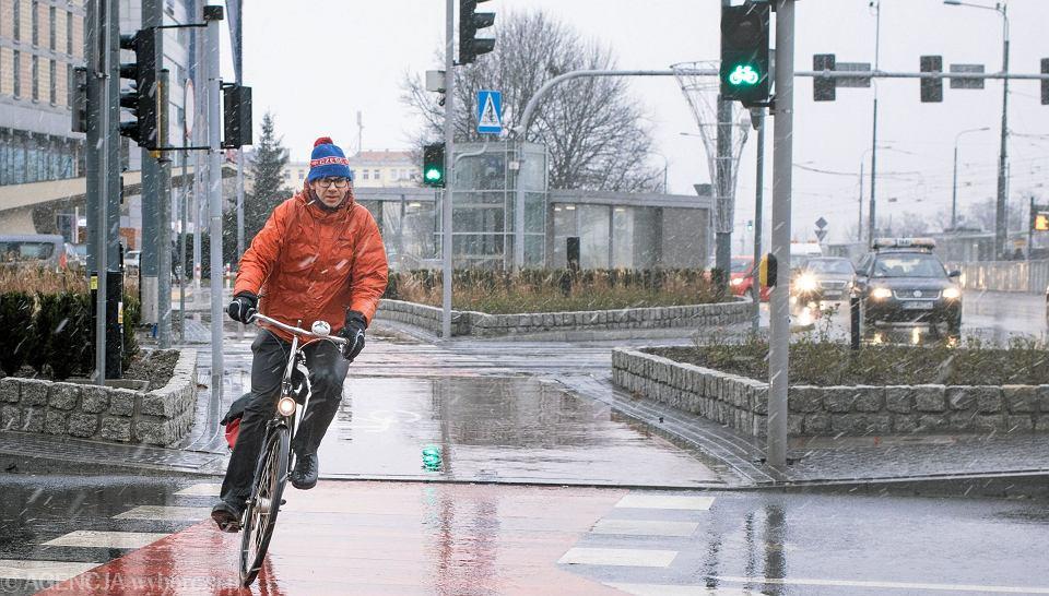 Wojciech Makowski, były oficer rowerowy na rondzie Kaponiera