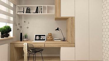 Biuro w stylu skandynawskim