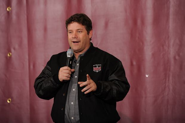 "September 21, 2012: Sean Astin speaks at Holy Cross College in South Bend, Indiana where the film ""Rudy"" a film about a Notre Dame student, was filmed. Mandatory Credit: INFphoto.com Ref.: infusin-01