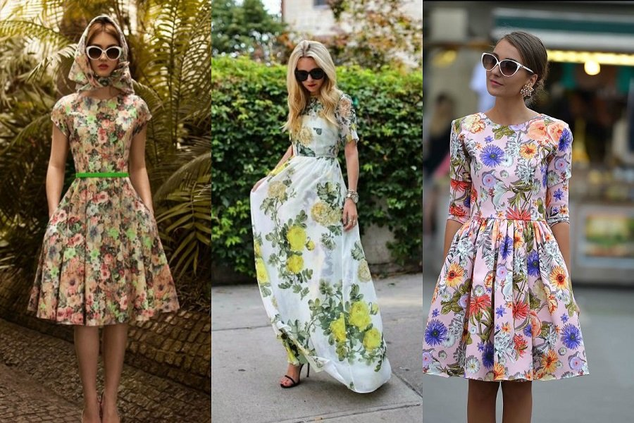 Sukienka W Kwiaty Stylizacje